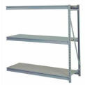 "Bulk Storage Rack Add-On, 3 Tier, Particle Board, 72""W x 24""D x 60""H Gray"