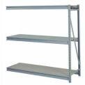 "Bulk Storage Rack Add-On, 3 Tier, Solid Decking, 84""W x 36""D x 72""H Gray"