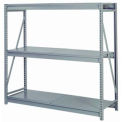 "Bulk Storage Rack Starter, 3 Tier, Solid Decking, 96""Wx24""Dx72""H Gray"