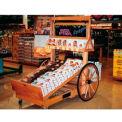 "Retract Cart W/ 32"" Wheels, 78""L x 36""W x 48""H, Hardwood, African Limba"