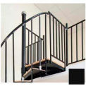 "The Iron Shop, Beach, Aluminum Tube Balcony Rail BE56BALRL-PC23, 5'6"", Matte Black"