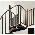 "Spiral Staircase Kit - The Iron Shop, Everyday, Steel Tube Balcony Rail, 4'0"", Black"
