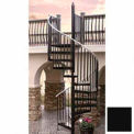 "Spiral Staircase Kit - The Iron Shop, Everyday, CODE Steel/Smooth, 5'0"", 11 Riser, Black"