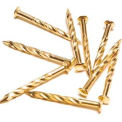 """M-D Screw Nails, 91194, 7.5""""L, Brass"""