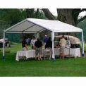 14'W x 27'L x 9'H Party Canopy, White With Blue Trim