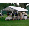 14'W x 32'L x 9'H Party Canopy, White With Blue Trim