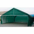 Green 22'W x 24'L x 12'H Peak Portable Two Car Garage