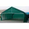 Green 22'W x 24'L x 12'H Peak Portable Two Car Garage
