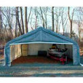 Gray 22'W x 24'L x 12'H Peak Portable Two Car Garage