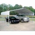 Gray 22'W x 24'L x 12'H  Steel Carport