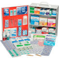 Global Industrial First Aid Kit - 3 Shelf Steel Cabinet, ANSI Compliant, 75-100 Person