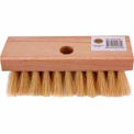 "Merit Pro® 7"" White Tampico Roof Brush with Tapered Hole"