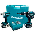Makita® LXT218, 18V LXT Lithium-Ion Cordless 2-Pc. Hammer Drill & Impact Driver Kit