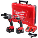 Milwaukee 2897-22 M18 FUEL Li-Ion Cordless Brushless Hammer Drill/Impact Driver 2-Tool Combo Kit