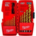 "Milwaukee® 48-89-0011 Thunderbolt® 1/16""-1/2"" 14Pc. Titanium Coated Drill Bit Set"