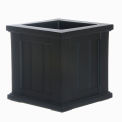 "Mayne® Cape Cod Patio Planter, 14""L x 14""W x 14""H, Square, Black"