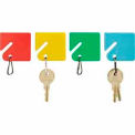 MMF Slotted Rack Key Tags with Snap-Hook 2013004W47 Plain Assorted Color, Ziploc Bag, Pkg of 20