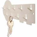 MMF STEELMASTER® 9-Hook Decorative Key Rack 201400900 Putty