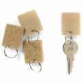 MMF Hook & Loop Fastener Key Tags 201500003 Pack of 12 Tags, Tan