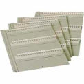 MMF STEELMASTER® Key Tag Panel 201KCP60PL - For Modular Key Cabinet, Platinum