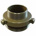 Fire Hose Double Male Adapter - 3 In. NPT X 2-1/2 In. NH - Aluminum