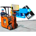 Forklift-Karrier, 55-Gallon, 12V DC Battery Power Tilt, Capacity: 1500 Lbs.