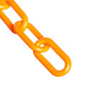 "Chain - Plastic 1-1/2"" Links - In A Bag - Safety Orange - 50 Feet - Trade Size 6"