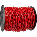 "Chain - Plastic 2"" Links - On A Reel - Red - 125 Feet - Trade Size 8"