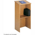 "Stand-Up Podium / Lectern, 23""W X 15-3 / 4""D X 45-7 / 8""H, Medium Oak"
