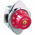 Master Lock Built-In Combination Lock with long bolt, Red Dial, Right Hinged