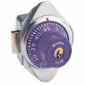 Master Lock Built-In Combination Deadbolt Lock, Purple Dial, Right Hinged