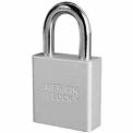 American Lock High Security Solid Aluminum Padlock 6 Pin Cylinders ,Silver