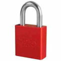 American Lock® High Security Solid Aluminum Padlock 6 Pin Cylinders, Red - Pkg Qty 24