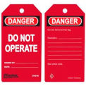 Master Lock® Safety Tag, Do Not Operate, Red - Pkg Qty 2