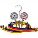 "Mastercool® 33661 Brass Manifold 2-1/2"" Gauge Set Set w/3-60"" Hoses"