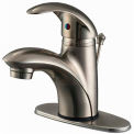"Ultra Faucets 1 Handle Lavatory Faucet W/Pop-Up Drain Assembly, UF34123 Brushed Nickel, 6-1/8""H"