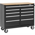 MBI 9 Drawer Mobile Workcenter 46-1/4 L x 18-1/4 W x 39-1/4 H-MWC46-9BK-Black