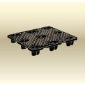 "MasonWays™ 48405 NP/120 EC Full Size Economy Nestable Plastic Pallet 48""W x 40""D x 5""H Black"