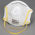 10-Pack N95 Harmful Dust Disposable Respirator W/ Exhalation Valve - Pkg Qty 12