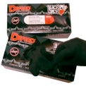 Blackjack Tattoo Medical/Exam Textured Latex Gloves, Powder-Free, Black, L, 100/Box, LG-8005