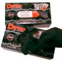 Blackjack Tattoo Medical/Exam Textured Latex Gloves, Powder-Free, Black, L, 100/Box, LG-8005