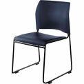 8700 Series Cafetorium Stacking Chair with Ergonomic Back - Black Frame - Pkg Qty 4