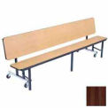 8' Mobile Convertible Bench Unit with Plywood Top, Walnut