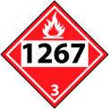 "NMC DL139BP DOT Placard, 1267 3, 10-3/4"" X 10-3/4"", White/Red/Black"