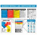 "NMC HMCP300 Haz Mat Identification Chart, 22"" X 26"", Laminated"