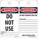 "NMC RPT105 Tags, Do Not Use, 6"" X 3"", White/Red/Black, 25/Pk"