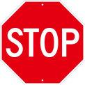 "NMC TM34J Traffic Sign, Stop Sign 18"", 18"" X 18"", White"