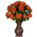 Nearly Natural Spider Mum with Urn Silk Plant
