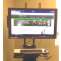 """Newcastle Systems B178 Post Mount LCD Holder (Up to 42"""") For NB & PC Series Workstations"""