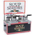 Soup Merchandiser, Double 7 Qt Well, Single Thermostat